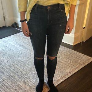 J Brand Light Wash high waste skinny jeans